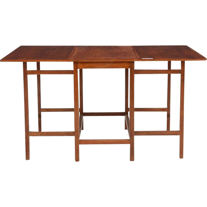 Vintage folding table in walnut lacquered by Christensen and Larsen