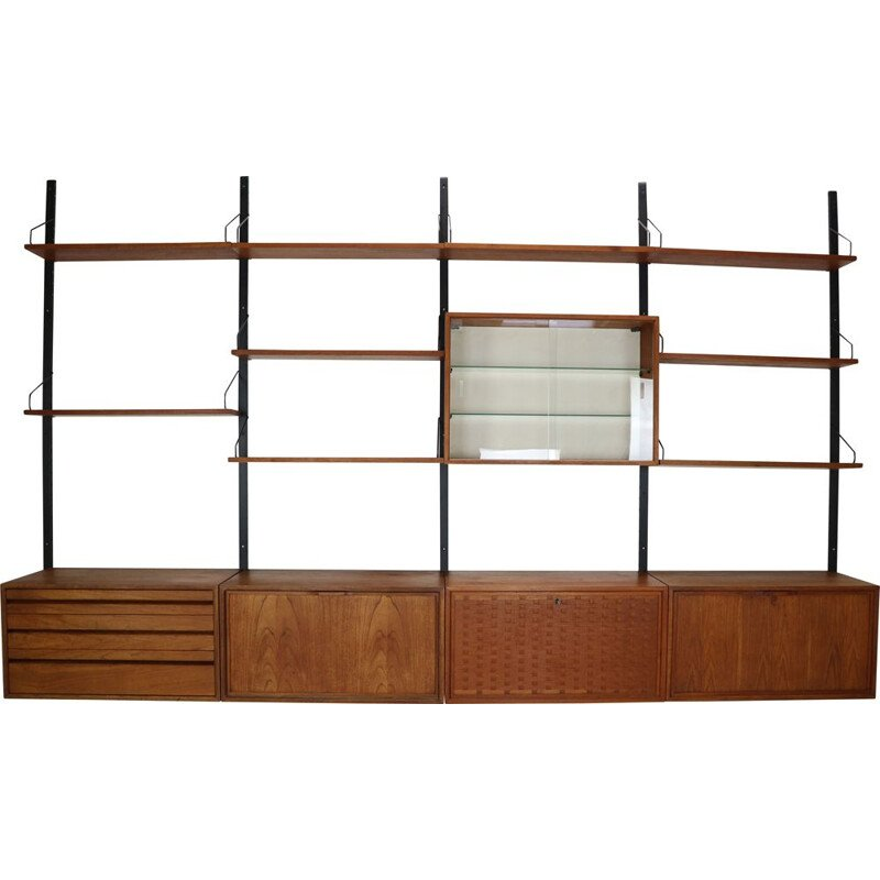 Vintage Extra Large Royal System Wall Unit by Poul Cadovius, 1960s
