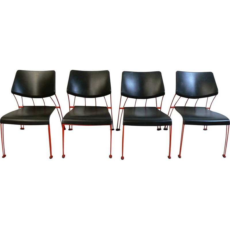 Suite of 4 chairs by Marina Mulder for Ikea 1993