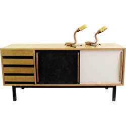"""Sideboard """"Cansado"""" in ash, Charlotte PERRIAND - 1958"""
