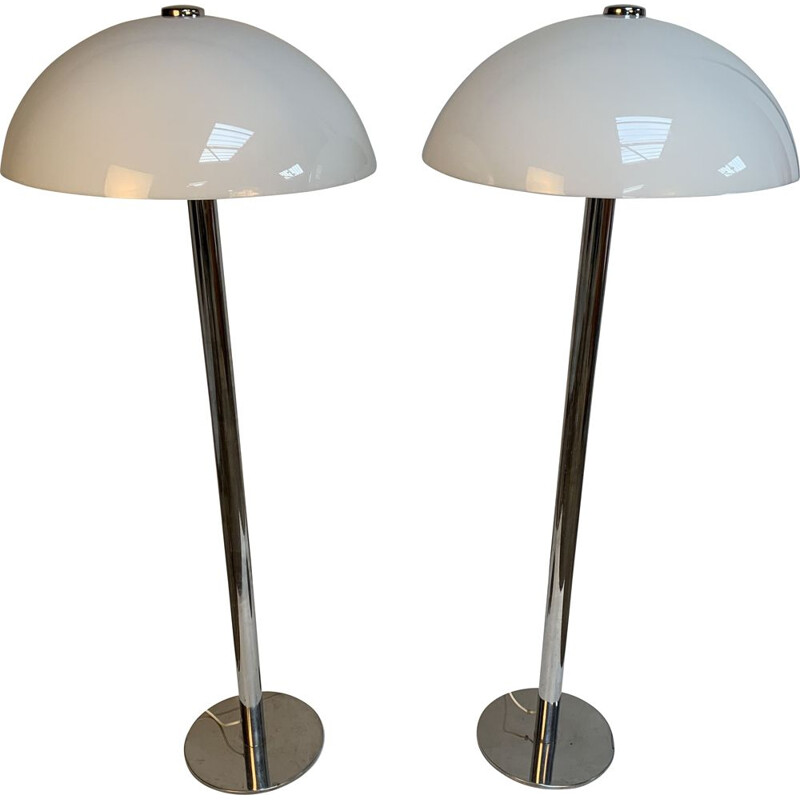Pair of Vintage Floor Lamps by Guzzini, 1970s