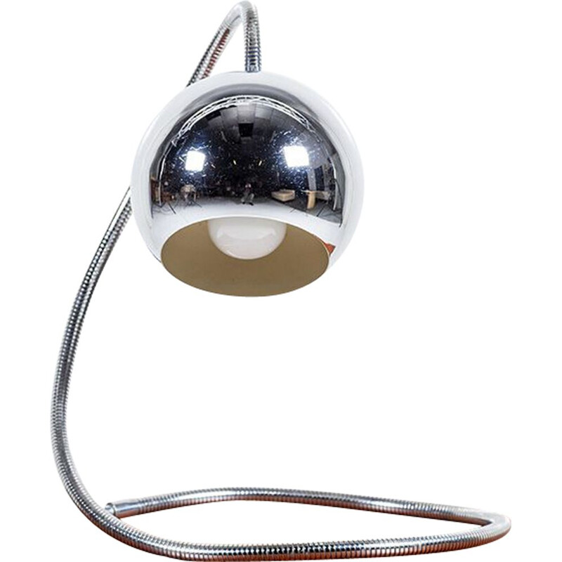 Vintage Chrome Table Lamp, Italy, 1960s