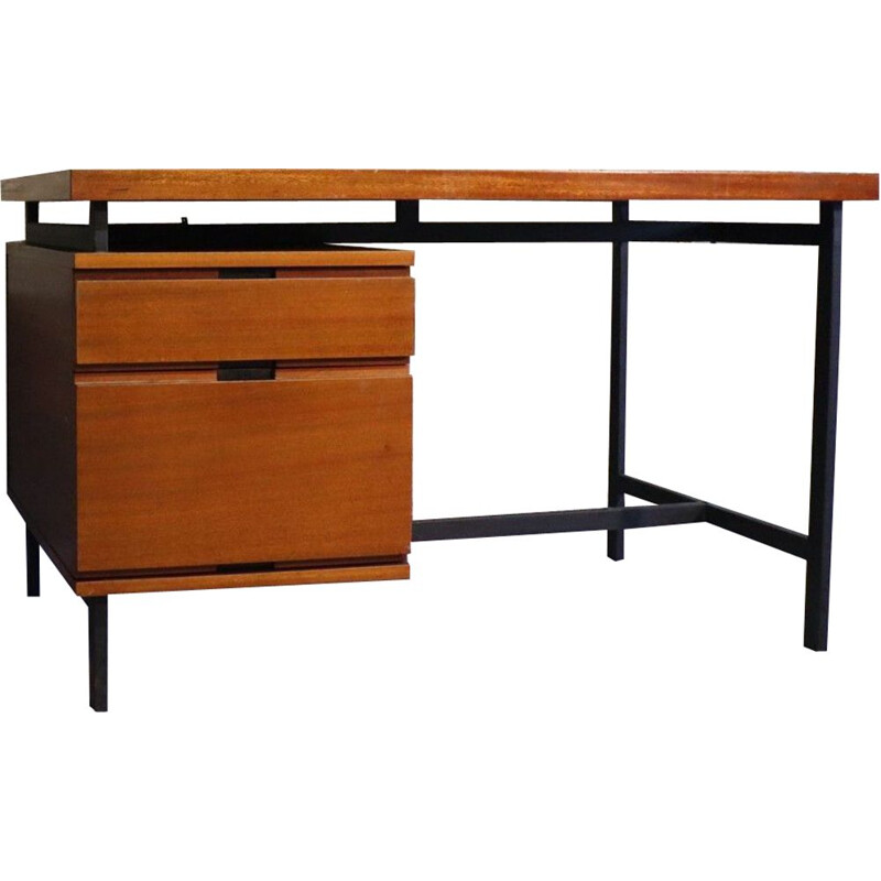 Vintage minister's desk by Pierre Guariche Minvielle edition 1950