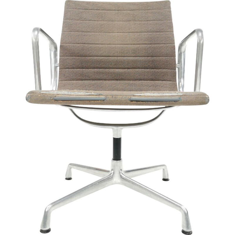 Vintage aluminium desk armchair model EA 107 by Eames for Vitra