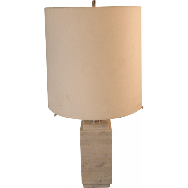 Mid century modern lamp in marble, Florence KNOLL - 1970s