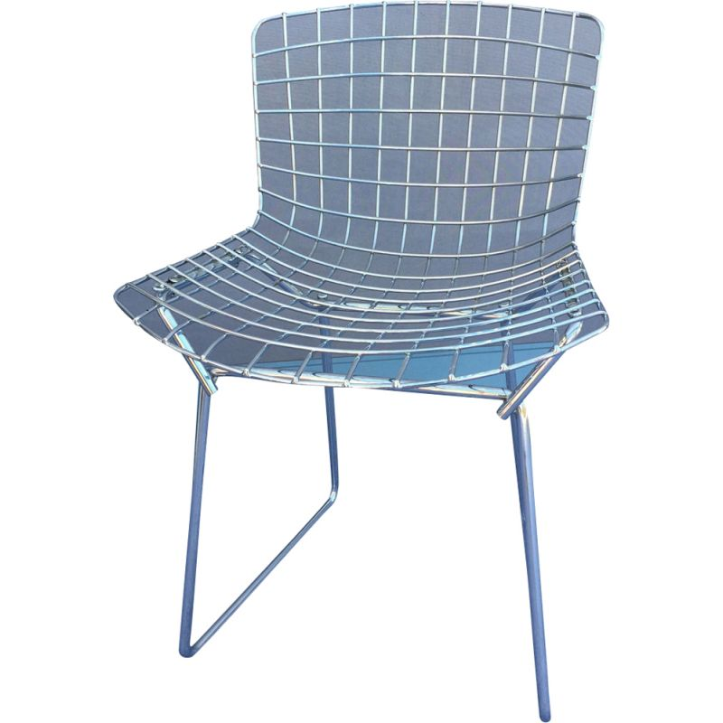 """Pair of vintage children's chair """"Wire"""" by Knoll"""