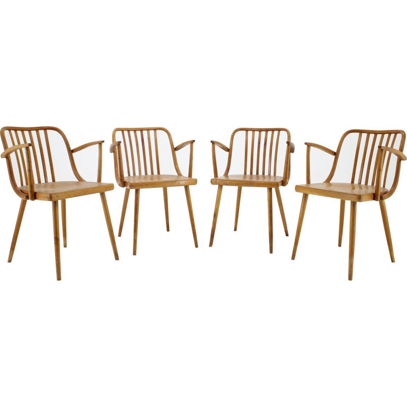 Set of 4 vintage dining chairs by Antonin Suman, Czechoslovakia, 1960s