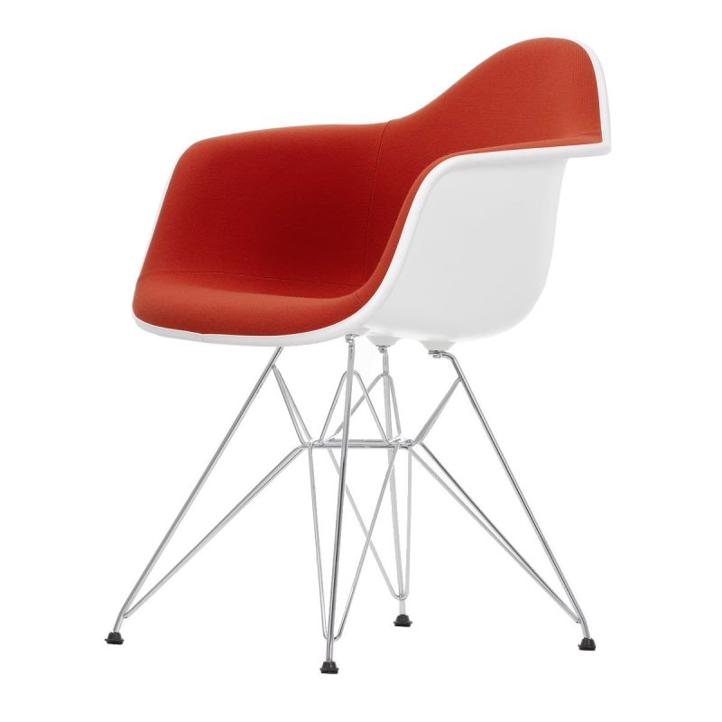 """""""Plastic Armchair DAR"""" with full upholstery by Charles and Ray Eames for VITRA"""