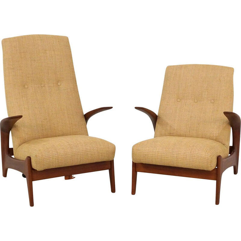 Pair of vintage armchairs by Rolf Rastad and Adlof Relling, 1960s