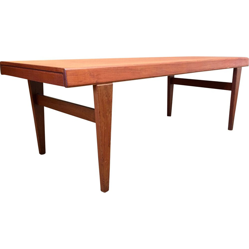 Vintage scandinavian teak coffee table by Johannes Andersen, 1950