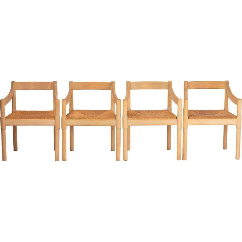 "Set of 4 chairs ""Carimate"" by Vico Magistretti for F.lli Mario Luigi Comi Sedie Poltrone, 1950s"