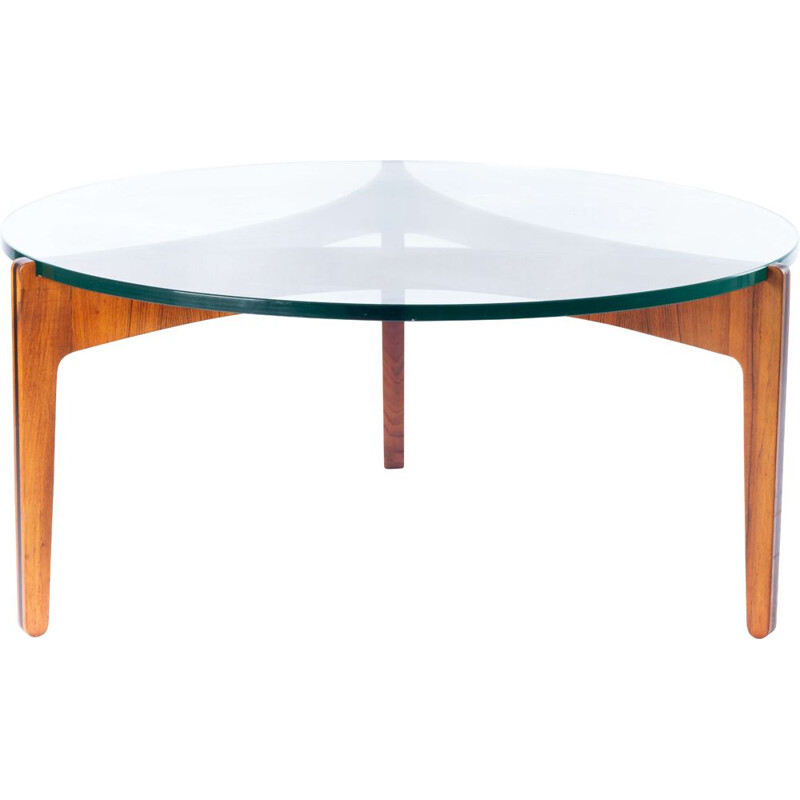 Rosewood vintage coffee table by Sven Ellekaer for Christian Linneberg, 1960s
