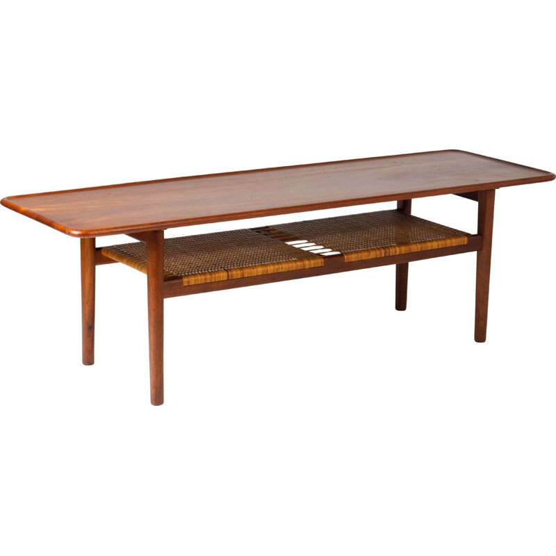 Vintage coffee table by Hans Wegner for Andreas Tuck