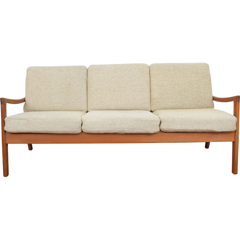 Danish teak vintage sofa by Ole Wanscher for Cado, 1960s