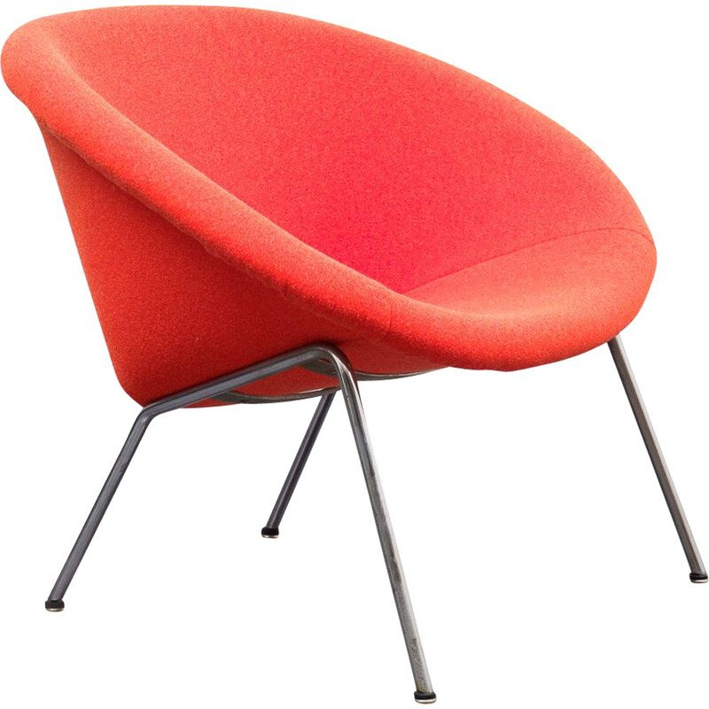 Vintage orange easy chair by Walter Knoll, model 369, 1950