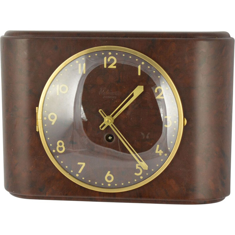 Vintage Bakelite Art Deco Rubinette wall clock, France, 1930s