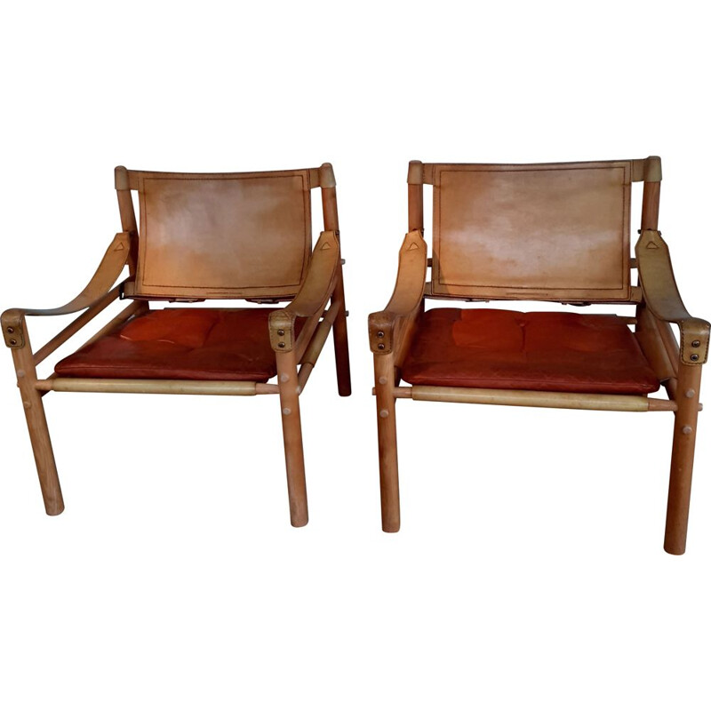 Pair of vintage armchairs model Sirrocco by Arne Norell, 1960