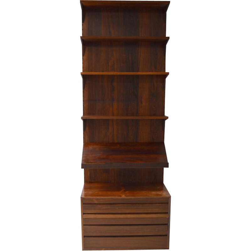 Royal System rosewood wall unit by Poul Cadovius, 1968