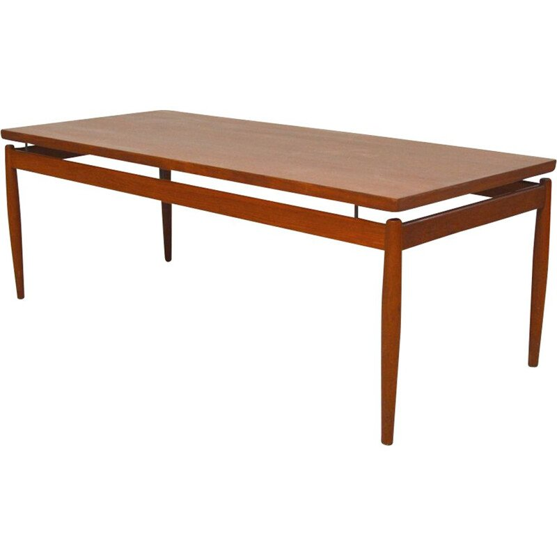 Vintage teak coffee table by Grete Jalk for Fance & Son, Denmark, 1960